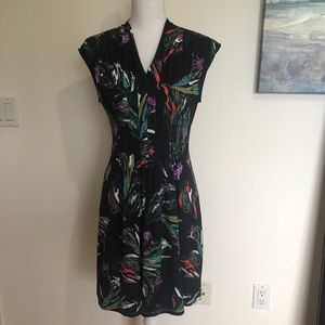 NWT Catherine Malandrino Jersey Floral Art Dress